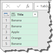 Power Query - Select Single Column Results