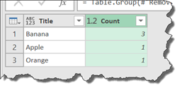 Power Query - Group By with Aggregation